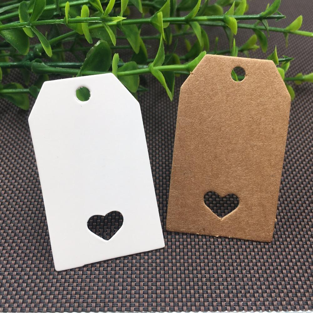 Free shipping 5x3 cm kraft paper Tags Blank Gift tags DIY Retro Kraft Paper cards Garment price Tags 2000 PCS