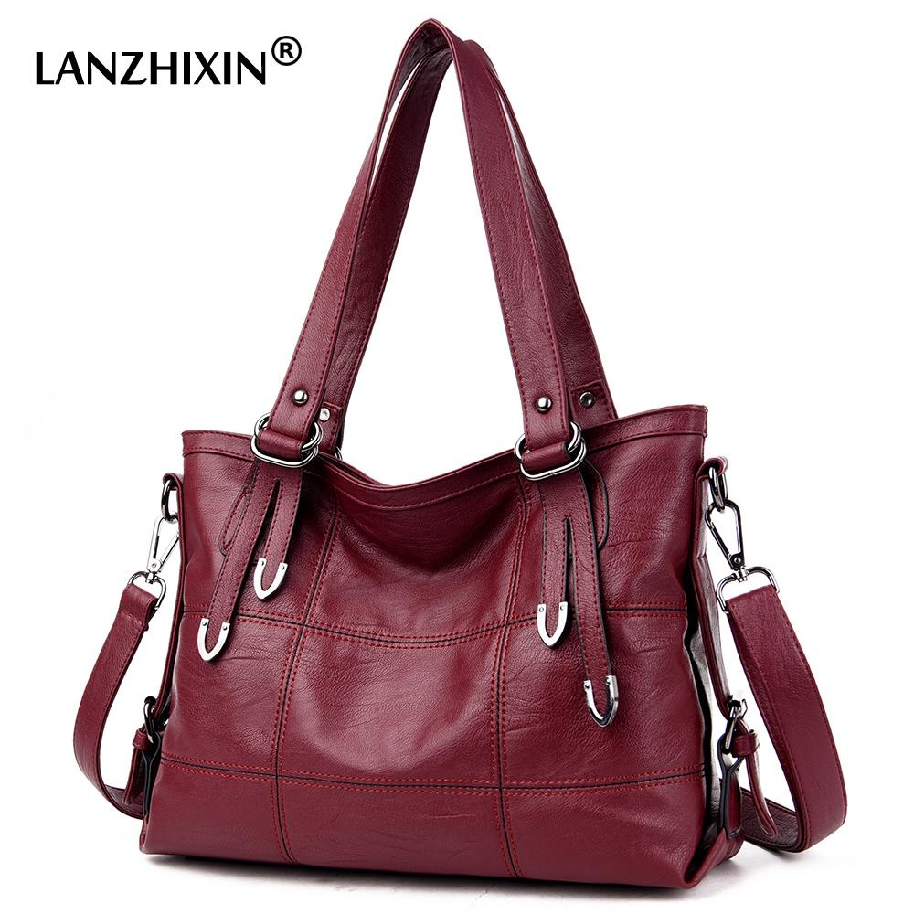 8d3ba77cc Compre 2019 Moda Lanzhixin Bolsas De Couro Das Mulheres Designer De Sacos  De Ombro Macio Para As Mulheres Sacos Do Mensageiro Crossbody BagsTop  Handle Bags ...