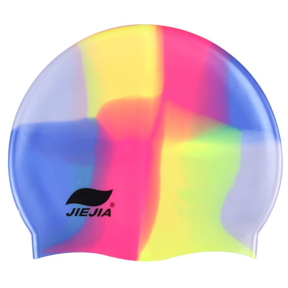 61eab62eddd 2019 New Design Cololful Swim Silicone Rubber Adults Swimming Cap Adult Men  Women Waterproof Swim Caps Hat Swimming Accessories From Yerunku