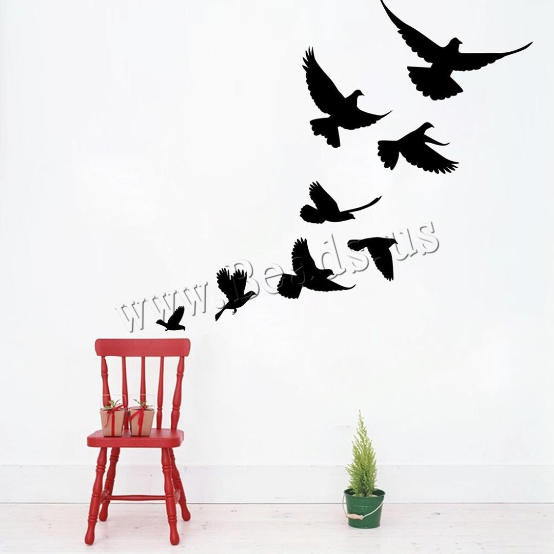 Wall Stickers & Decals PVC Plastic Bird adhesive & waterproof Sold By Set