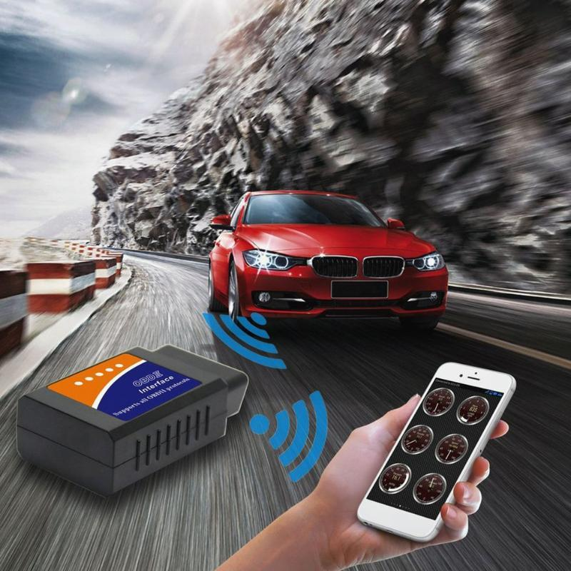 Nova ferramenta ELM 327 V1.5 interface funciona em Android Torque CAN-BUS ELM327 Bluetooth OBD2 / OBD II Car diagnóstico Scanner