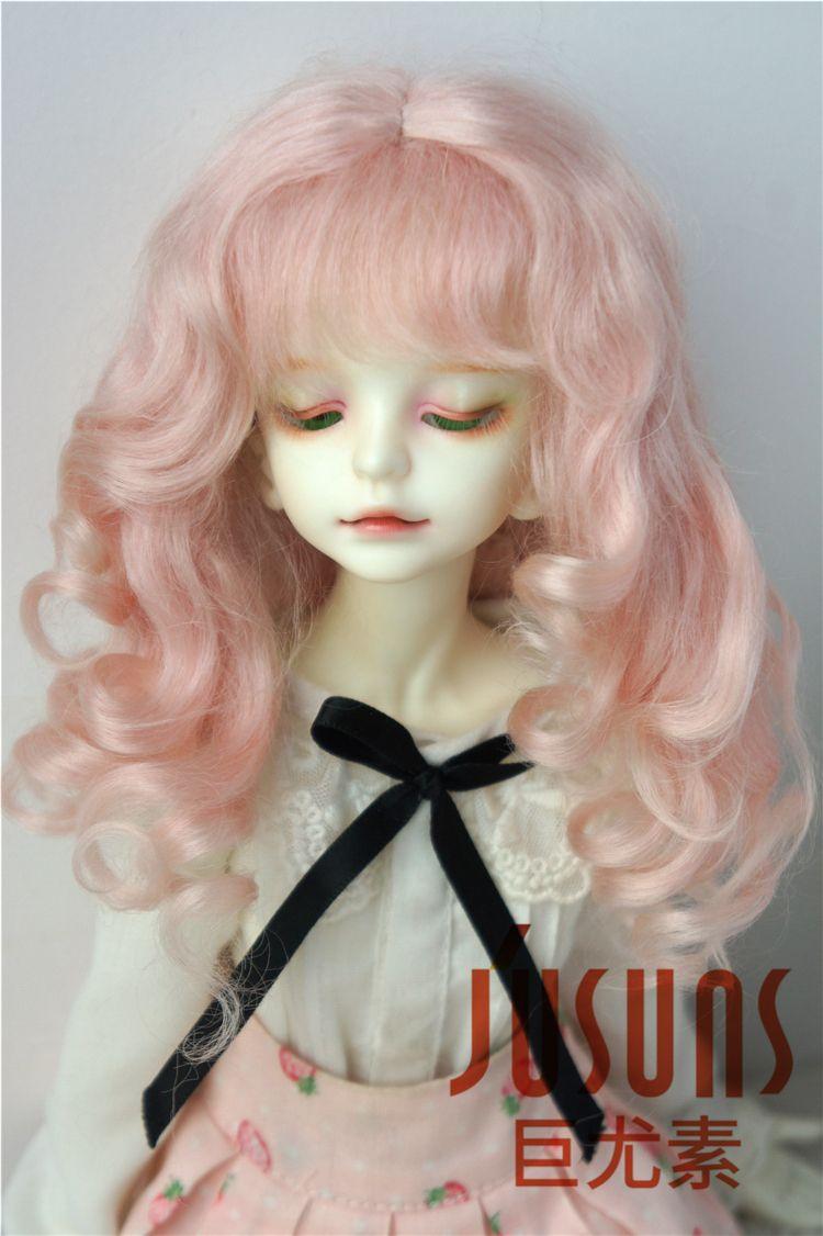 69d0bf97bdd41 Jusuns 7-8inch Doll Wigs MSD Long Princess Wavy Mohair Wig 1/4 BJD Doll  Hair 9 Colors Available D20313