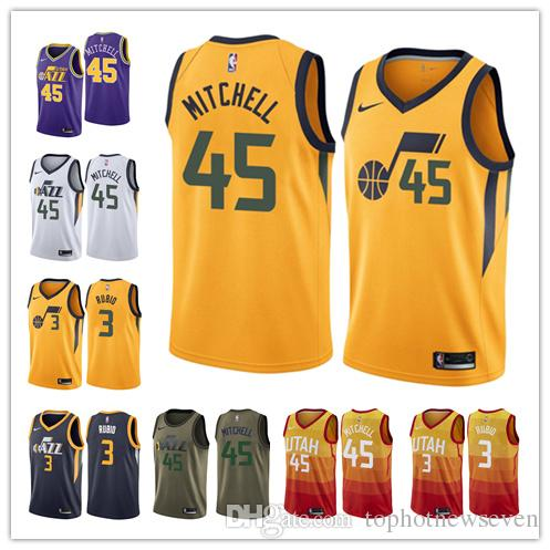 8d67e225 Utah Donovan Mitchell Ricky Rubio Jazz Fanatics Branded Fast Break Player Basketball  Jersey Statement Edition T Shirt T Tee Shirts Online Shopping From ...