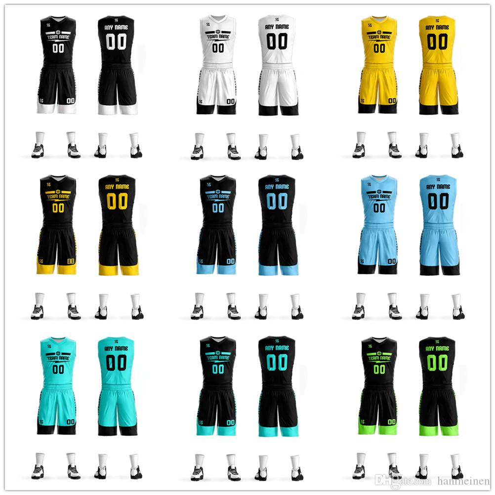 22725fd06 2019 Custom Men Women Kids Basketball Jerseys Cheap Blank College Basketball  Uniforms Youth Basketball Set Suits Dry Quick Breathable From Hanmeinen