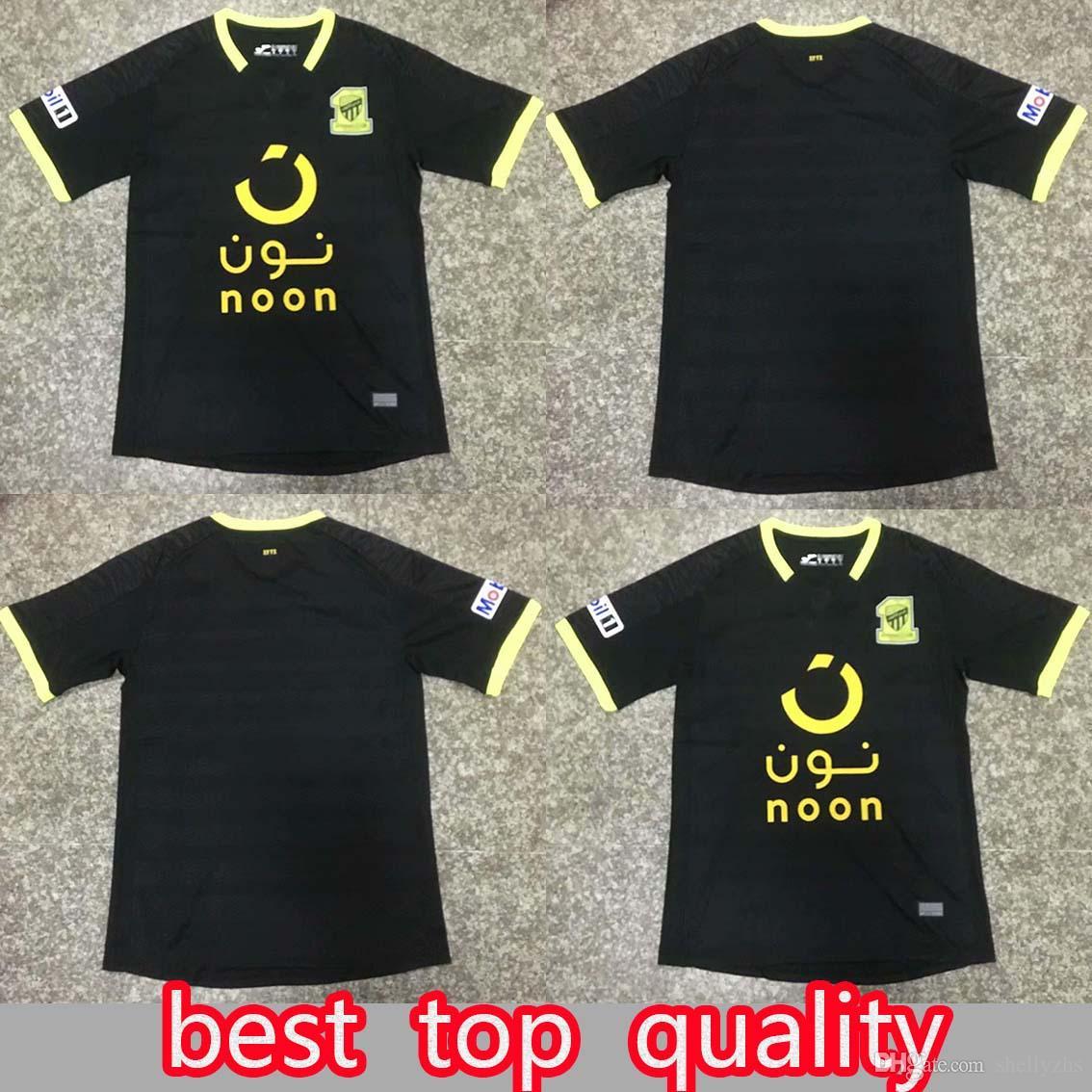 021ee86c94d01 Camisetas De Fútbol 2019 2020 Al Ittihad Jeddah SA Camisetas De Fútbol  Personalizado Cualquier Nombre Número Casa Negro 19 20 Camiseta De Fútbol  Por ...