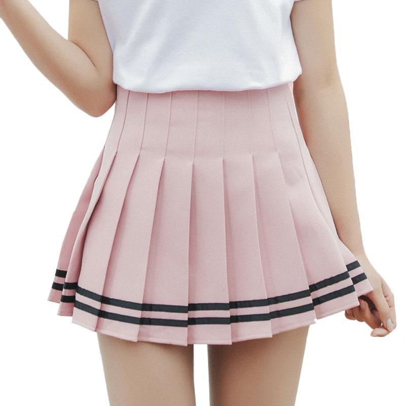 92197ba7e831 Frauen Plaid Rock Lolita Stil Harajuku Kawaii Süße Gestreifte Röcke Mini  Nette Schuluniformen Saia Faldas Ladies Jupe SK6655
