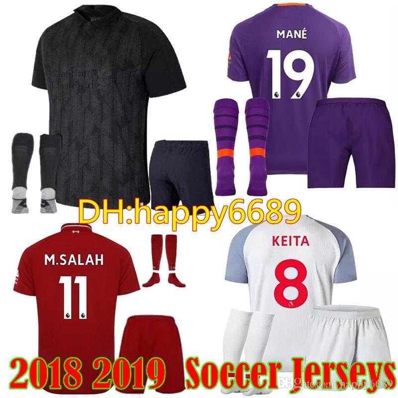 077399d9e 18 19 M.SALAH Kits Soccer Jerseys Home 2018 19 Mane MILNER Virgil ...