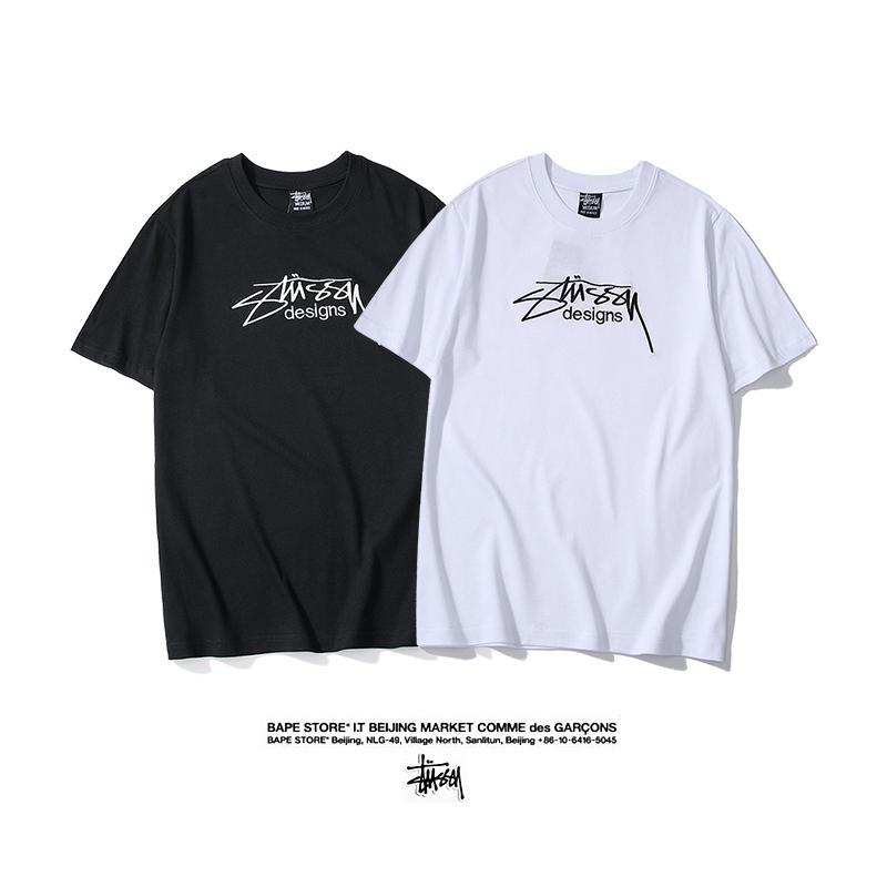 5430ac3e Fashion T-shirts for Men Summer High Quality Mens Tops New Brand Letters  Embroider Street Style Men's Summer Tshirts Mens Clothes Size M-XXL