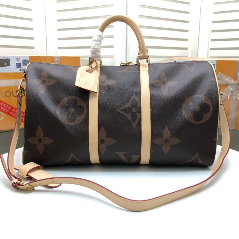 c73e63544272fc 50CM Large Capacity Women Travel Bags Famous Classical Designer Hot Sale  High Quality Men Shoulder Duffel Bags Carry On Luggage Keepall Sport Bags  Duffle ...
