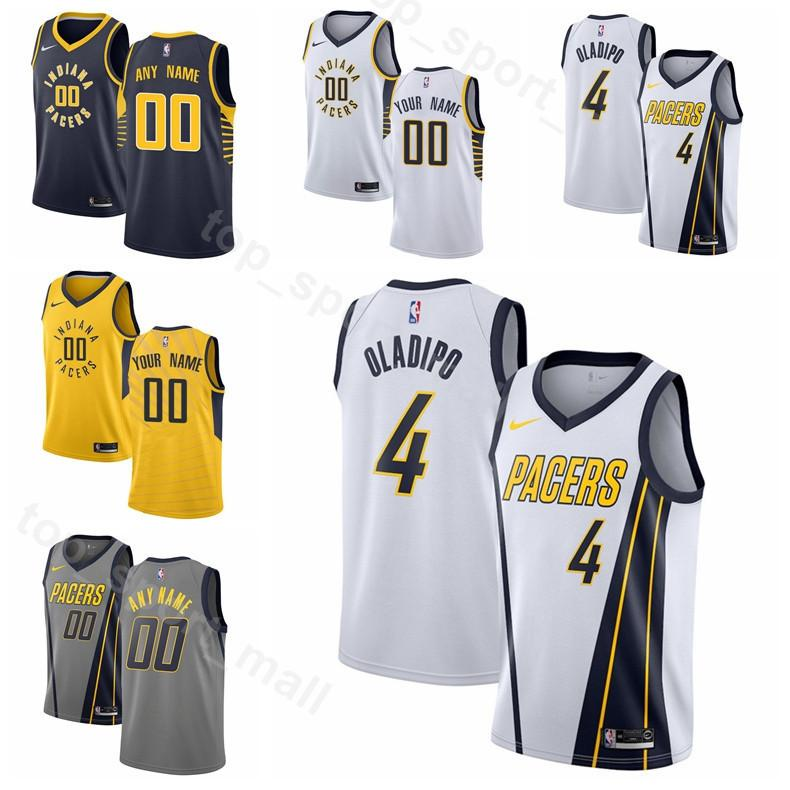 Printed Man Kids Woman Indiana Basketball Pacers Victor Oladipo Jersey 4 Bojan  Bogdanovic 44 Domantas Sabonis 11 Wesley Matthews 23 Collison UK 2019 From  ... 7abd13789