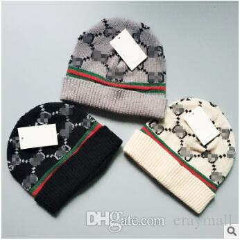 7c85af461f4 Letter Adults Knit Hat Cap Luxury Brands Design Hats Caps Autumn ...