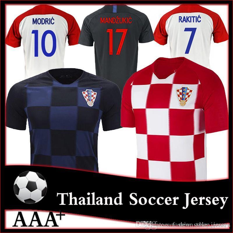 5c83c7e24 Croatias Jersey 10 ModriC World Cup Soccer Jersey MANDZUKIX 20 PJACA ...