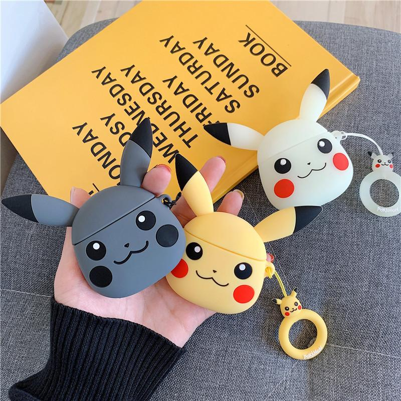 Fashion Cute Lovely Pikachu Airpods Case Silicone Protective Cover Game Style Cute Airpods Cases Earphone Case Gift for Airpods