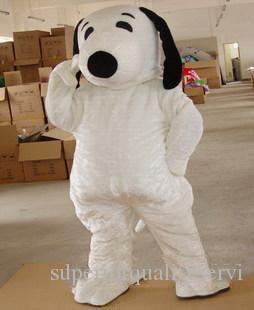 2019 chaud Taille adulte usine Snoopy Dog costume de mascotte Halloween Party Chirastmas Fancy Dress