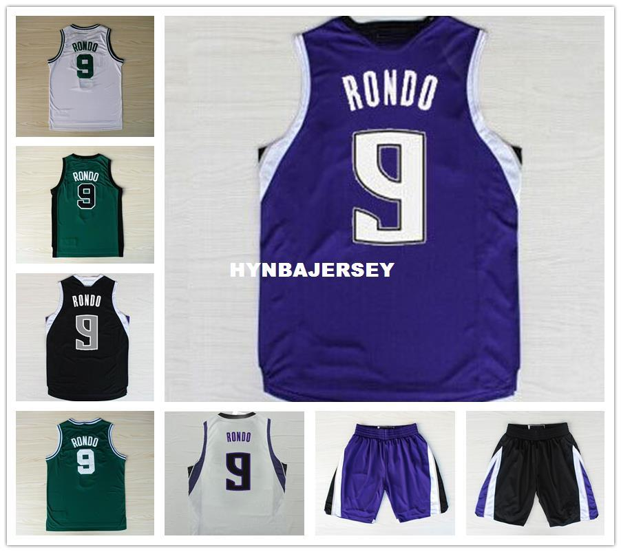 size 40 22a13 f3510 Latest Men's Basketball Jerseys #9 Rajon Rondo Jersey Embroidery logo New  fabrics Stitched top quality sport shirt Ncaa College