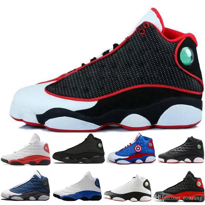 b1496020aac Compre Nike Air Jordan Aj13 2019 Tênis De Basquete 13 13 S Sapatilhas  Formadores De Chicago 3 M GS Hiper Real Bordéus DMP Trigo Azeitona Marfim  Homens ...