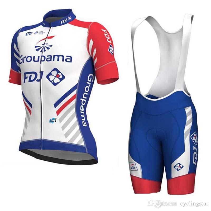 fdfb21d9e 2018 UCI Team FDJ Pro Cycling Jersey 3D Gel Pad Bike Shorts Set Ropa  Ciclismo Summer Quick Dry Bicycling Maillot Wear Y011002 Waterproof Cycling  Jacket ...
