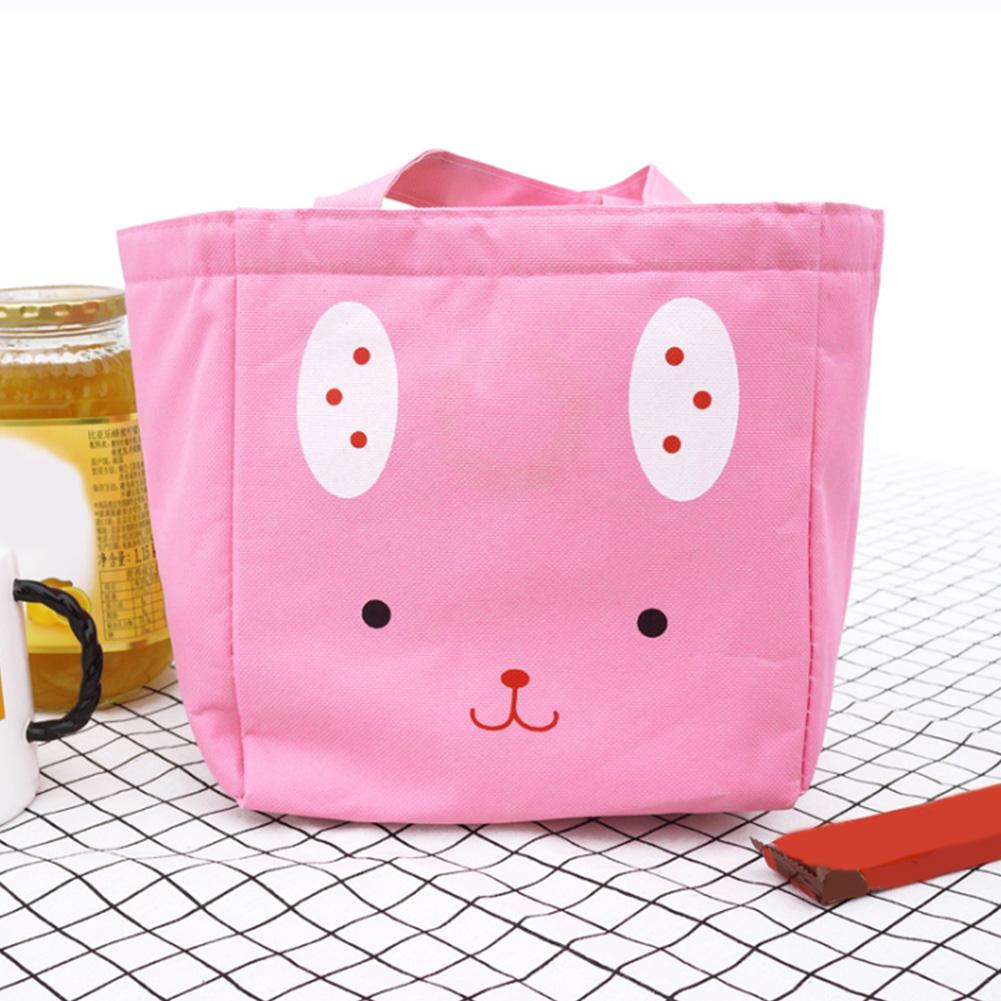 Thermal Insulation Large Capacity Lunch Bag Storage Portable Oxford Cloth  Cartoon Animal Cute Aluminium Film Travel Handbag