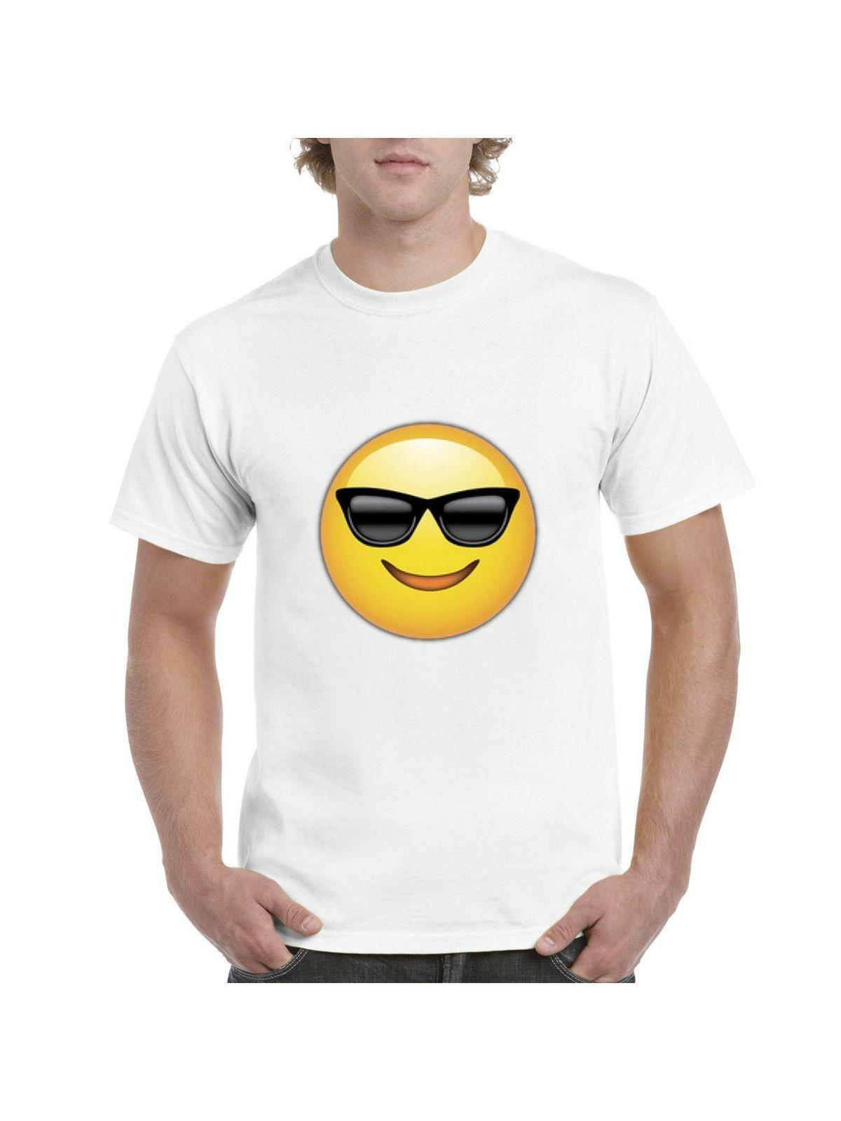 emojis t shirt cool smiling face w sunglasses mens shirts cotton men t shirts classical top tee basic models online t shirt shopping print on t shirt from
