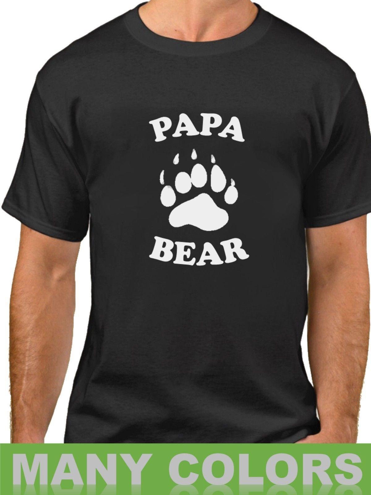b37a5a0ba Papa Bear Funny T Shirt Birthday Present For Dad Tshirt Gift For Him Fathers  Day Print Fitness T Shirt Men Classic Casual T Shirt Fun T Shirts Online  Shirts ...