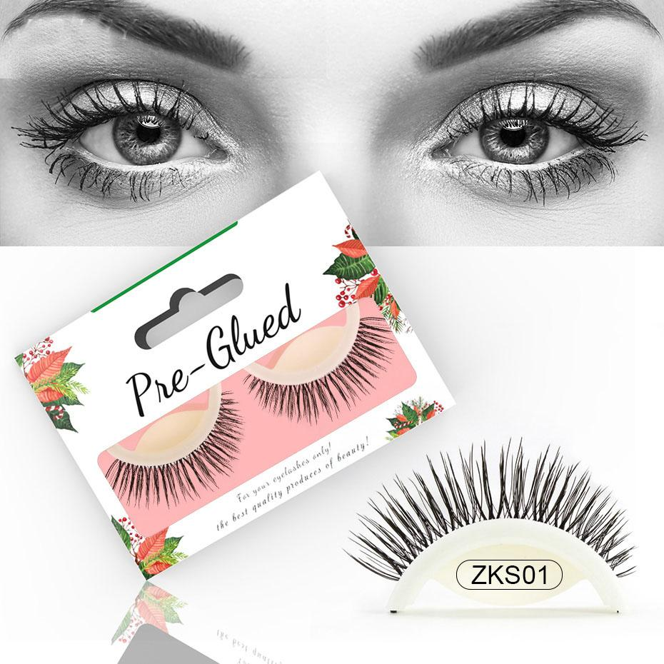 182fac80103 New Arrival Self Adhesive 3D False Eyelashes Natural Long Lashes Volume  Reusable Soft Lashes Eyelash 4 Styles Wholesale Hollywood Lashes How To  Apply False ...