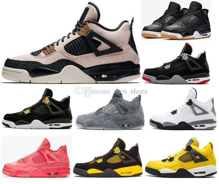 5db710a74f4030 High Quality 4 Silt Red Black Gum Hot Punch Men Basketball Shoes 4s White  Cement Lightning Thunder Royalty Black Gold Sneakers With Box Shoes For  Sale ...
