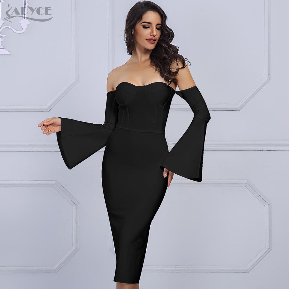 7ca7a6dd8 Compre Adyce 2019 Nuevas Mujeres Del Verano Vestido Del Vendaje ...