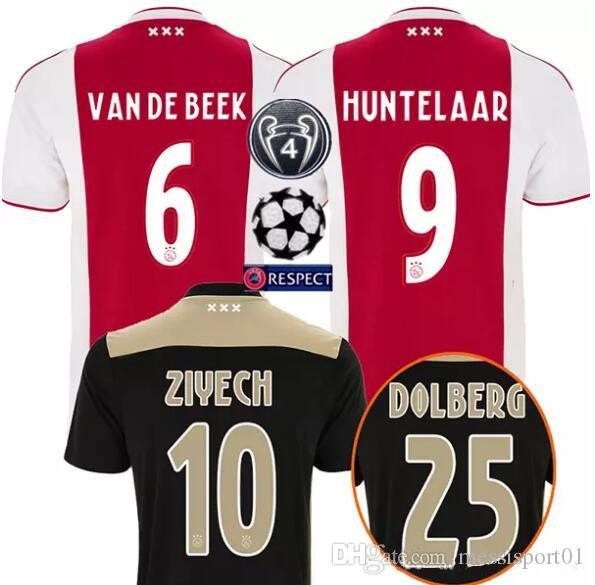 0fbfaefab 2019 Ajax Soccer Jerseys 18 19 Ajax Home Away Soccer Shirt 2019  10 TADIC   21 DE JONG  4 DE LIGT  25 DOLBERG  22 ZIYEC Football Shirt From  Messisport01