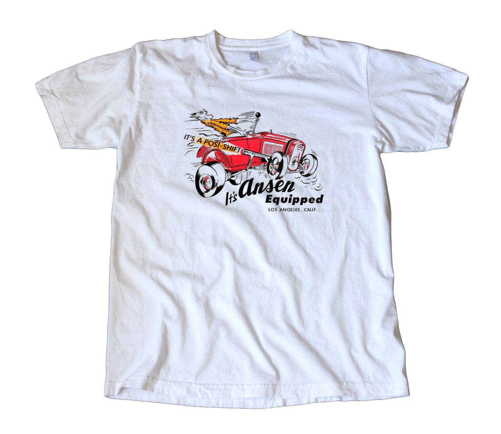 193a68f15e Vintage Ansen Equipped Decal T-Shirt - Hot Rod, Gasser, Los Angeles Speed  Shop Funny free shipping Unisex Tshirt top