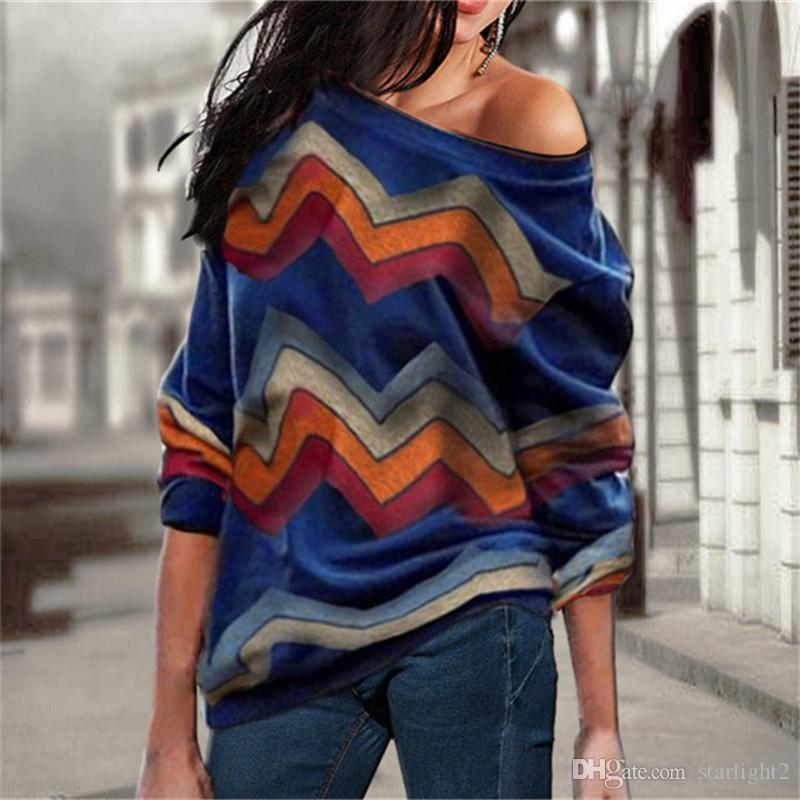 Strickpullover Frauen 2019 Frühling Herbst Casual Langarm Pullover Vintage Sexy Schulterfrei Pullover Tops Jumper Jersey Mujer 3XL