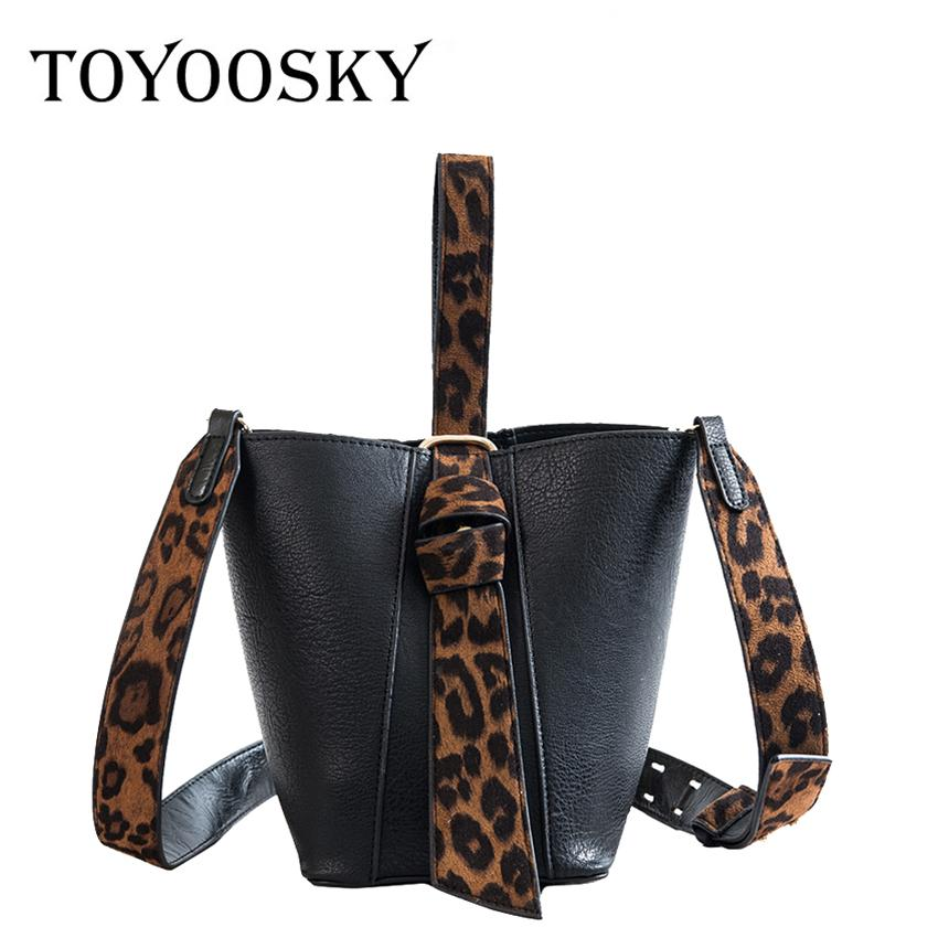 553fbebb58ec TOYOOSKY Bucket Bags For Women 2018 Female PU Leather Small Crossbody Bags  Ladies Leopard Print New Handbags And Purse Side Bags Handbag Brands From  ...