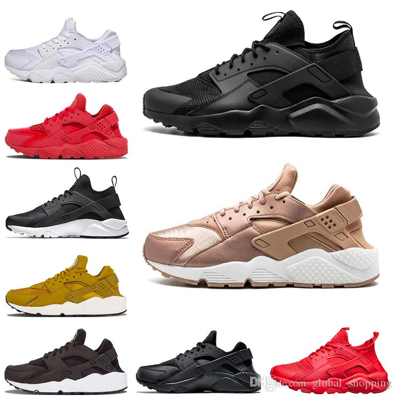 41e5ad60d18f Designer Huarache 4.0 1.0 Sneaker For Mens Womens Running Shoes Triple  Black Huaraches Breathable Trainers Shoes Size 36 45 Cheap Shoes Men  Running Shoes ...