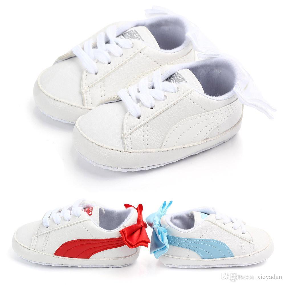 91913106669eff Großhandel Modische Neue 2019 Süße Schuhe Kleine Mädchen Weiß Mit Weichen  Sohlen Schuhe Für Kleine Mädchen Für Kleine Jungen Und Mädchen Casual  Sneakers Von ...