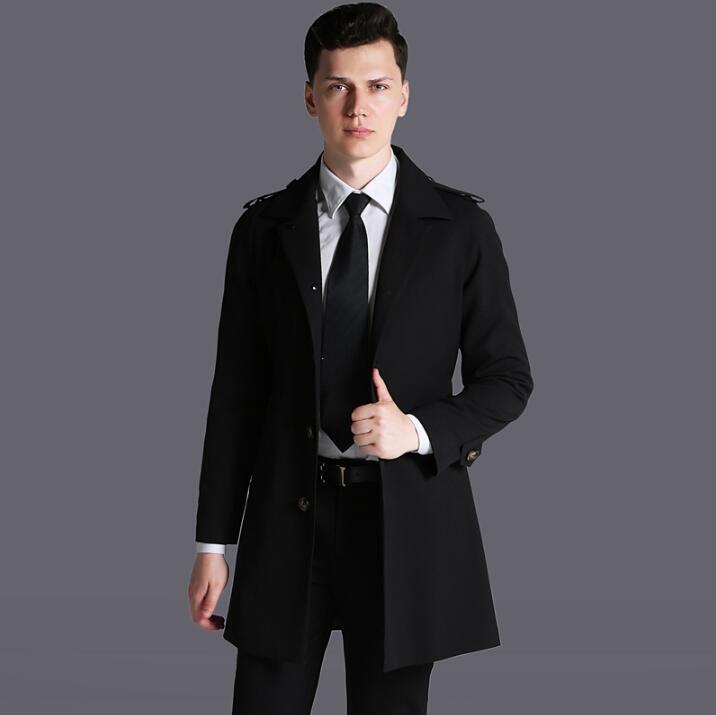 70f4788006c Hot Sale 2019 Spring Autumn Brand Casual Trench Coat For Men Plus ...