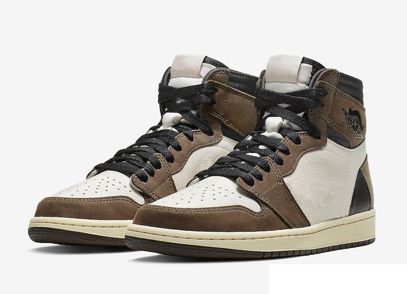 Details about Air Jordan 1 High Travis Scott Mid Shoes Trainers Basketball High Top Casual show original title