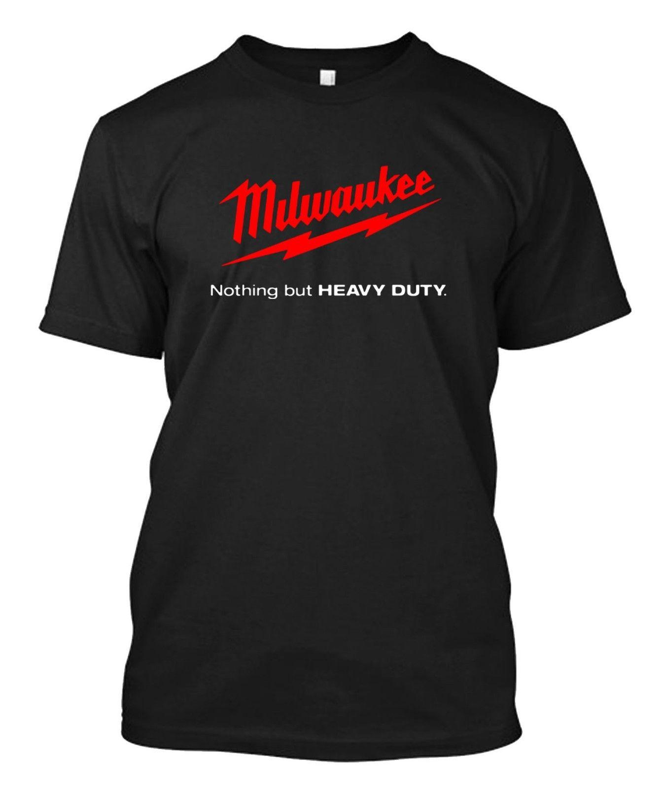 Milwaukee Tools T Shirt Custom Mens Black T Shirt Tee Print Shirt