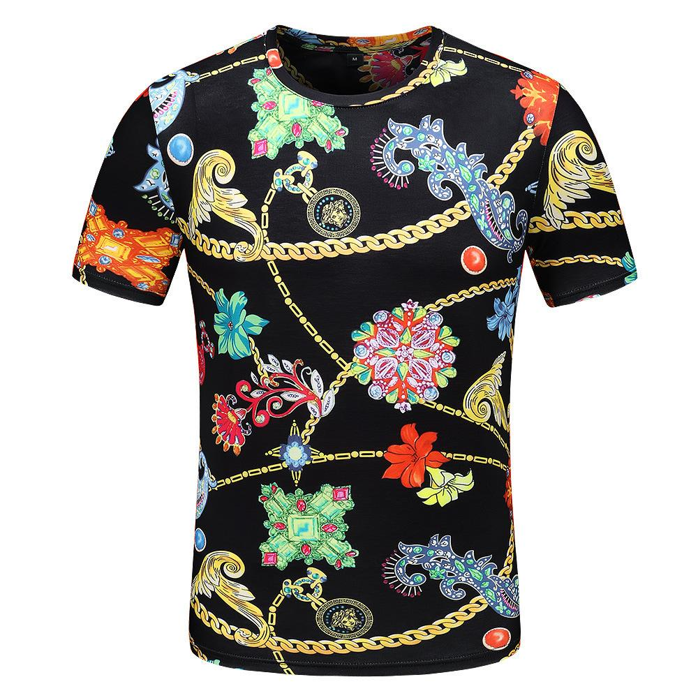 c930decc Summer New Round Neck Short Sleeved Men Cotton Casual Digital Printing T  Shirt Long Term Goods Explosion Online T Shirts Funky T Shirts From  Yulin65, ...