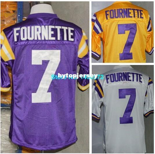 2019 Factory Outlet LSU Tigers Jersey 7 Leonard Fournette Jersey White  Purple Yellow College Football Jersey Authentic Stitched Logos From  Hytopjersey 6ec565f19