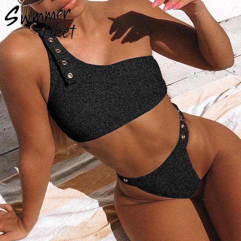 1dfc00435d1 2019 Strappy Belt Sexy Swimwear Women 2019 High Cut Sheer Female Swimsuit  Push Up Bathing Suit Brazil Thong Bikini Set Two Piece Suit From Zhonshan,  ...