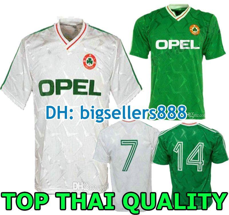 b3b4afe9d 2019 1990 1992 World Cup Ireland Retro Soccer Jersey 1990 Ireland Classic  Jersey Vintage Irish Sheedy Football Shirts From Bigsellers888