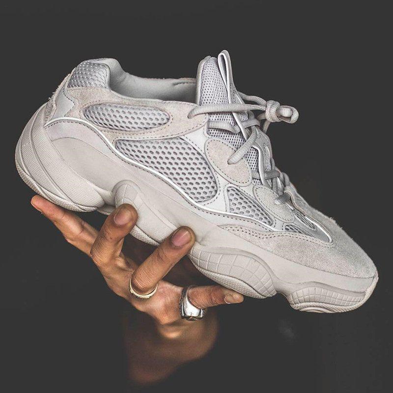 half off 3d441 1c395 Top quality mens shoes 500 Salt EE7287 Blush Desert Rat 500 Super Moon  Yellow running shoes fashion luxury sneak designer sandals shoes A03