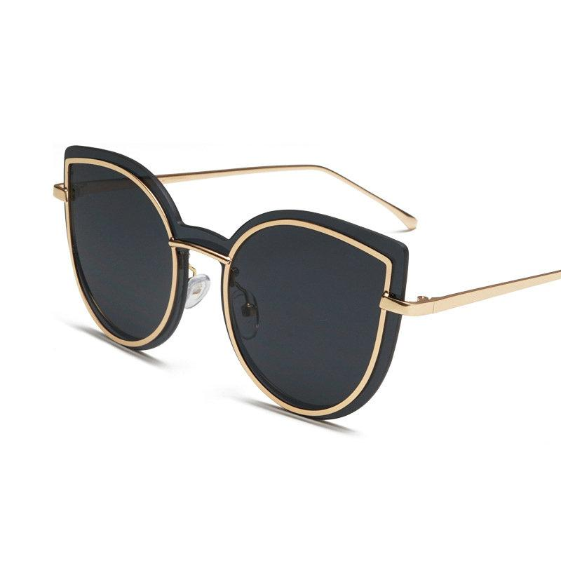 064758322a Oversized Butterfly Sunglasses Women 2018 Summer Metal Frame Vintage  Triangle Cat Sun Glasses Female Black Pink UV400 FML Online with   30.95 Piece on ...