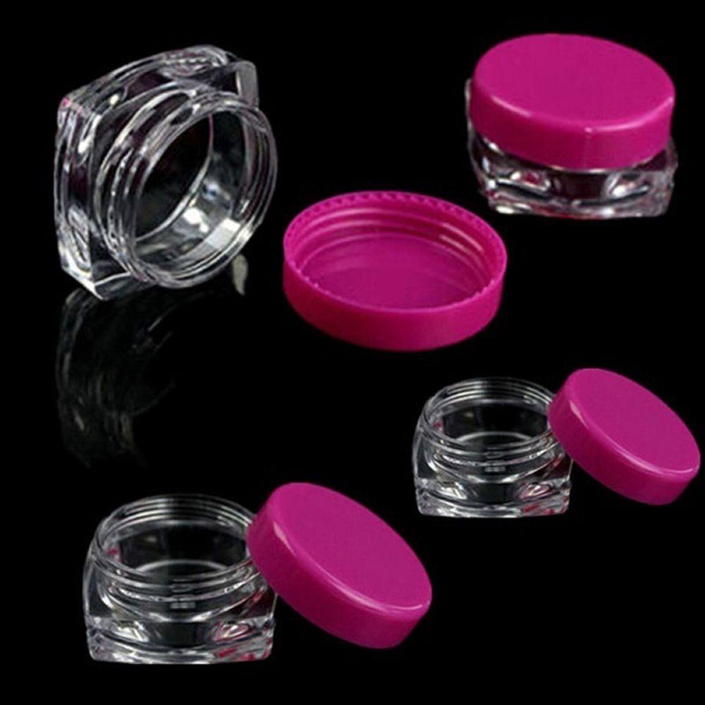 76d28c1e62a2 10 Pcs transparent Sample Container Small Square Bottle Cosmetic Empty Jar  Pot Eyeshadow Lip Face Cream Storage Bottle