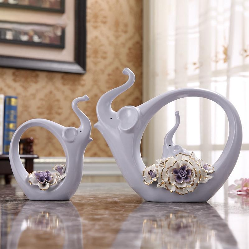 . Modern Home Living Room Ceramic Ornaments Creative Desktop Wine Cabinet  Decorations Ornaments Wedding Gifts Crafts Furnishings
