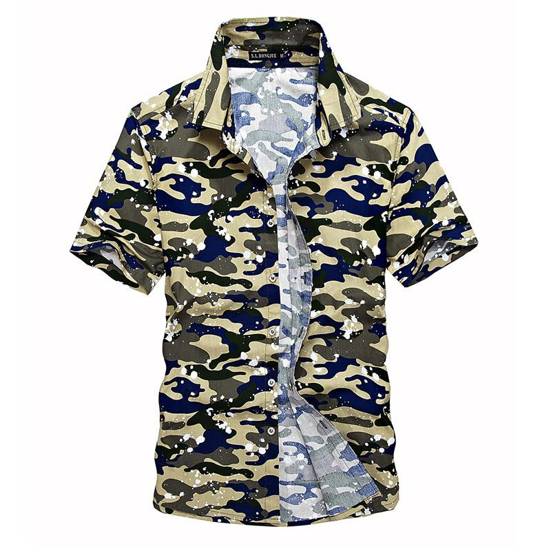55fb3a2af5 2019 2019 Fashion 100% Cotton Mens Short Camouflage Shirt Men Army Combat  Casual Shirt Military Slim Fit Camo Male Shirts From Jikai10, $40.5 |  DHgate.Com
