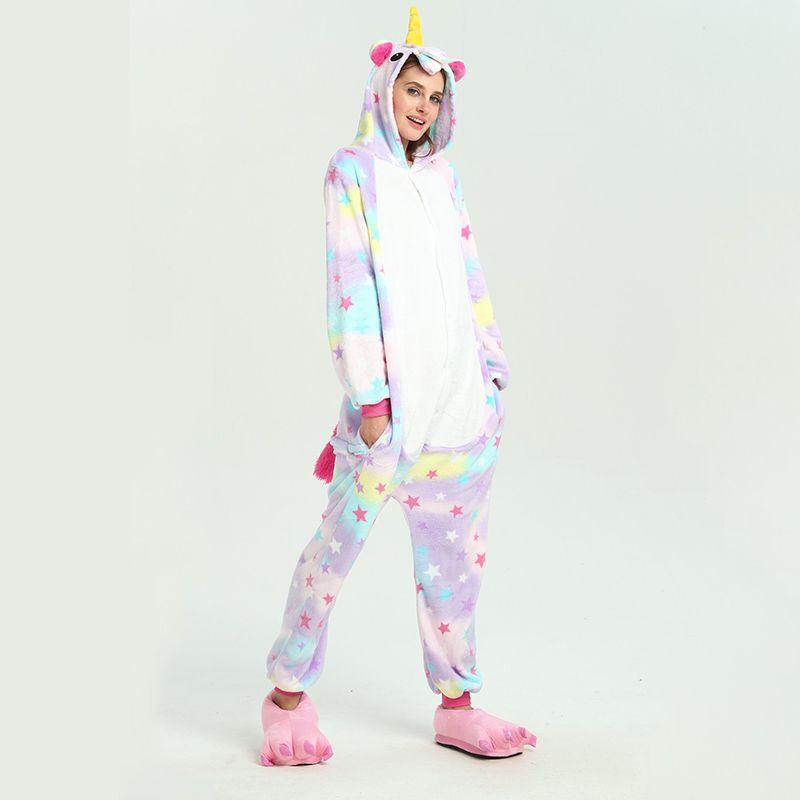 cce669c7c2 Compre Kawaii Animal Hood Stitch Pijamas De Mujer Onesie Kigurumi Unicornio  Mujer Ropa De Dormir Franela De Invierno Franela De Invierno Ropa De Casa A  ...