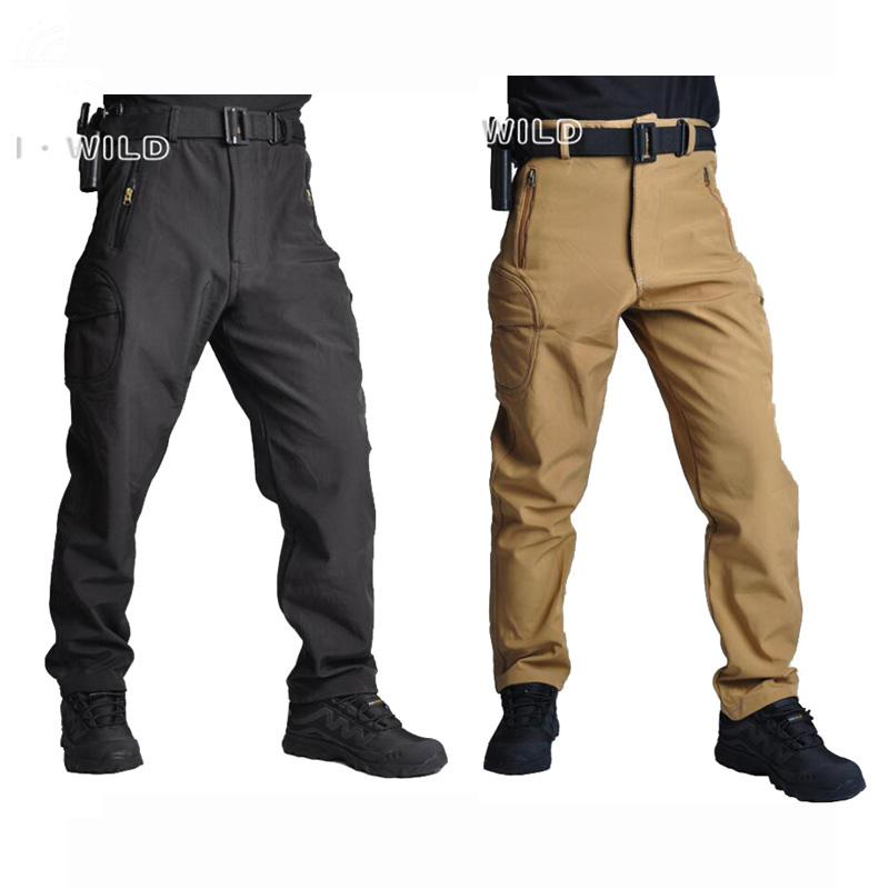 2220b6eec05f9 2019 Hot Sale TAD Shark Skin Windproof Outdoor Hiking Climbing CS  Camouflage Hunting Pants Men Fleece Trousers Army Pant From Xx2015, $68.78  | DHgate.Com