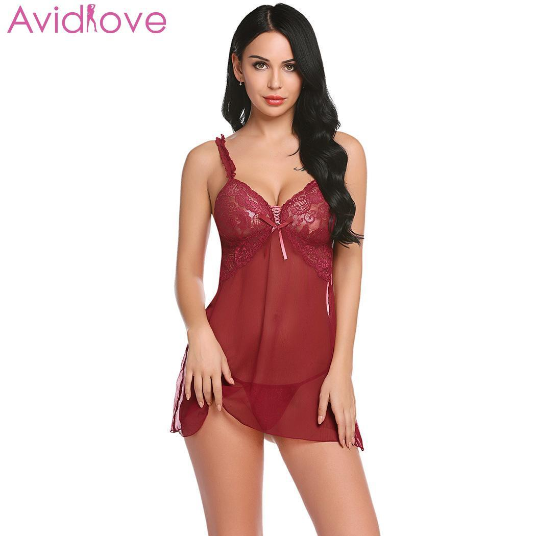 2019 Avidlove Women Sexy Lingerie Lace Hot Erotic Porno Sex Underwear Dress  Plus Size Babydoll Chemise Sexy Costumes For Women From Guichenbra 64a465edf