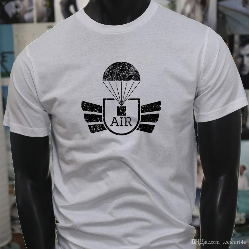 Airborne Parachute Military Army Special Forces Mens White T Shirt