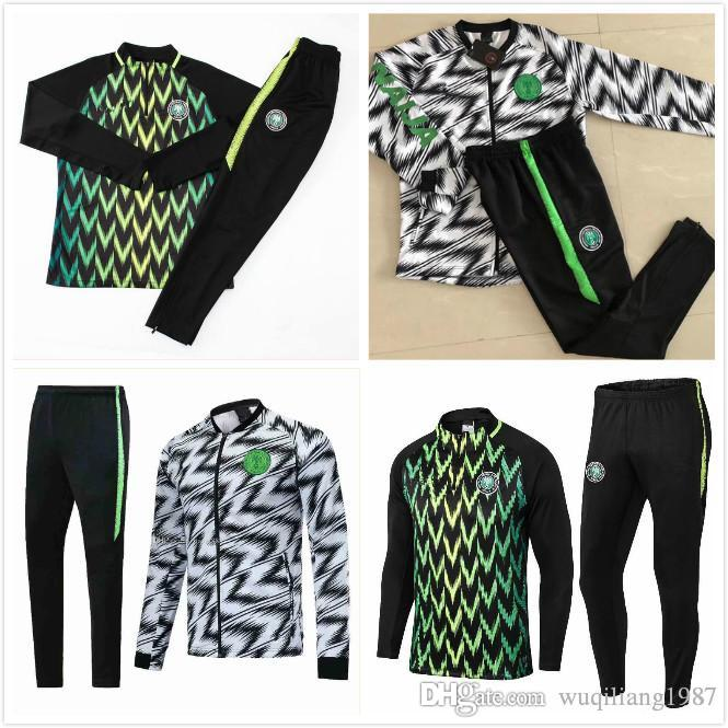 bb567bf30fe 2019 New2018 2019 World Cup Nigeria SOCCER JERSEY Training Suit 18 19  Nigeria IWOBI Chandal FOOTBALL Long Sleeve Jacket Kits Tracksuit Sportswear  From ...